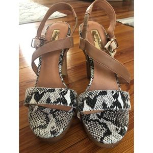 Snake Skin Sandal Heels